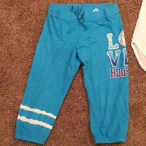 Justice Matching Sets - Justice Hoops set- girls size 14 Capri sweats & T